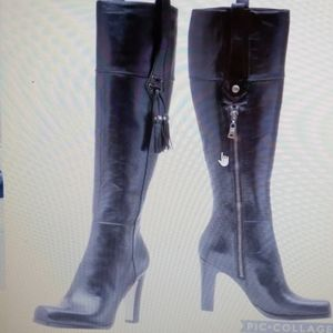 Nine West Donnal Tall Leather boots size 19